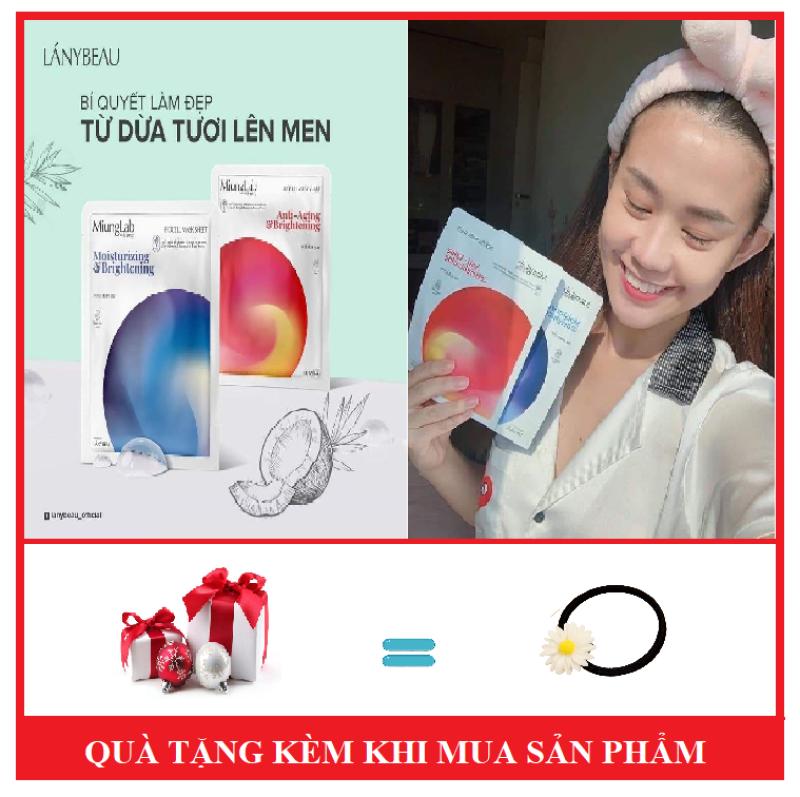 Mặt Nạ Men Dừa Tươi Hàn Quốc Miung Lab [ TẶNG KÈM CỘT TÓC HOA CÚC ]-Bấm Phân Loại Chọn Mặt Nạ giá rẻ