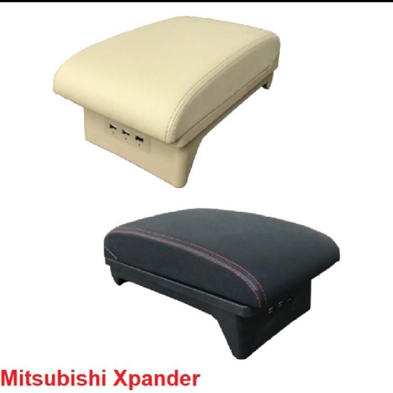 Hộp tỳ tay dùng cho xe ô tô, xe hơi Mitsubishi Xpander cao cấp tích hợp 3 cổng USB XPD-NK-B ( Màu kem)