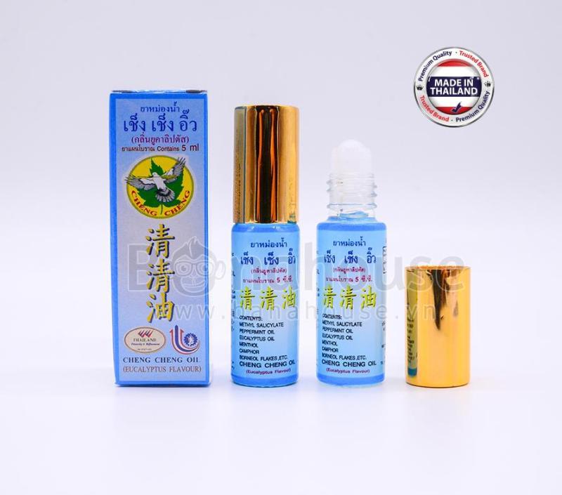 Dầu Gió Lăn Thảo Dược Cheng Cheng Oil Thái Lan 5ml