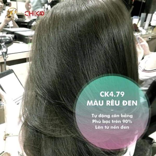 Nhuộm màu Rêu đen không tẩy (không tẩy tóc) (kèm trợ nhuộm và găng tay)