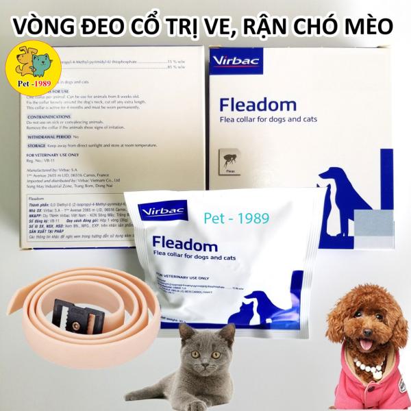 Fleadom của Virbac chống ve, chống rận, bọ chét, ghẻ cho chó, mèo  - Pháp. Pet-1989