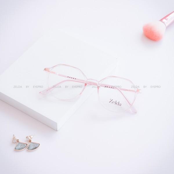 Giá bán [LẮP SẴN CẬN] Gọng kính cận nữ, kính mắt tròn Z012