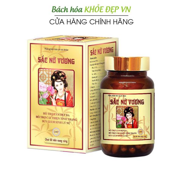 Viên uống Sắc Nữ Vương bổ sung Collagen giúp đẹp da, tăng nội tiết tố nữ - Hộp 60 viên