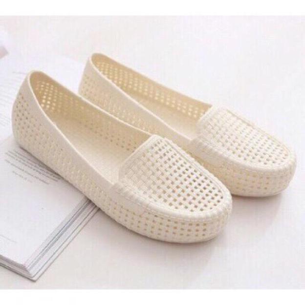 Giày nữ nhựa giày đi mưa búp bê lưới giá rẻ