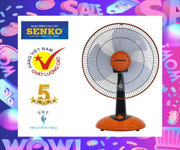Quạt bàn Senko B1612 - Hàng Chính Hãng (giao màu ngẫu nhiên)