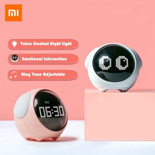 Đồng hồ báo thức đa năng kỹ thuật số kết hợp nhiệt kế đèn ngủ led dễ thương điều khiển bằng giọng nói Xiaomi Youpin - INTL bán chạy