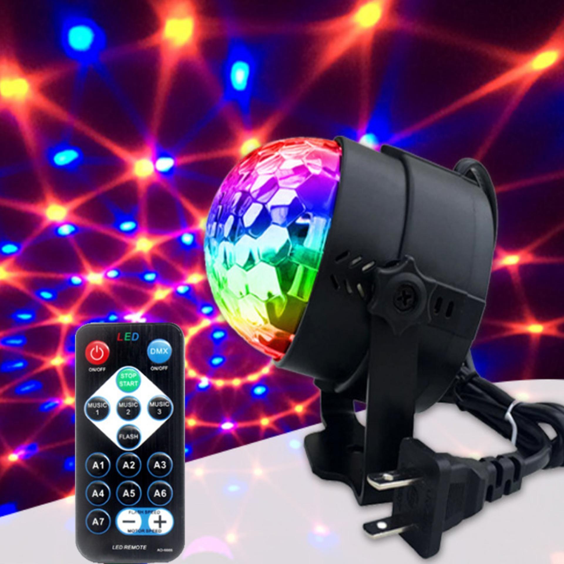 Đèn Led Xoay Cảm ứng Theo Nhạc (Có Remote) Giá Siêu Rẻ