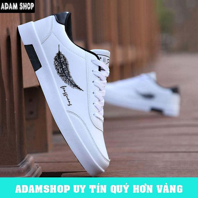 Giày Sneaker Nam Hàn Quốc 2019 Da PU Cao Cấp, đế đúc Nguyên Khối (Giá Cực Shock) - ADAM SHOP(AD07) Bất Ngờ Ưu Đãi Giá