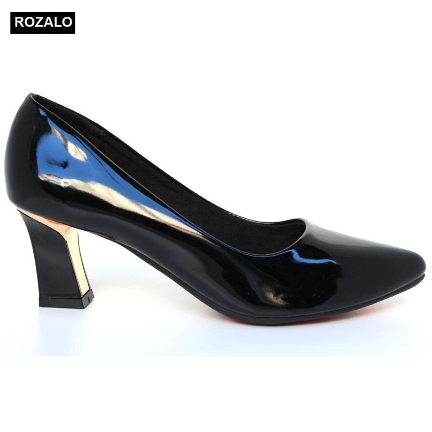 Giày cao gót bọc thép da bóng Rozalo R5775 giá rẻ