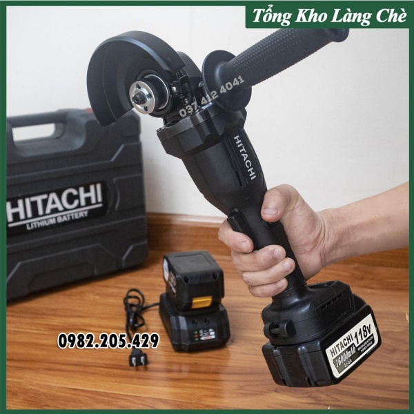 Máy Mài Pin HITACHI 118V Lõi Đồng Không Chổi Than [ FULL BOX + BH 12 Tháng ]
