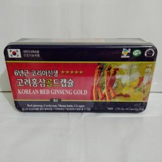 [Qùa Biếu Tết Sang Trọng] Viên Đạm Hồng Sâm Korean Red ginseng Gold - Hộp 60 Viên Nang Mềm Bồi Bổ Sức Khỏe 2