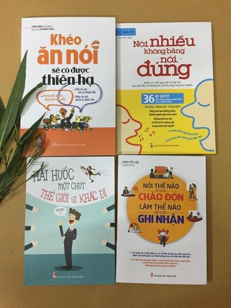 Mua Combo 4 quyển khéo ăn nói sẽ có được thiên hạ + hài hước một chút thế giới sẽ khác đi + nói nhiều không bằng nói đúng+nói thế nào để được chào đón làm thế nào để được ghi nhận
