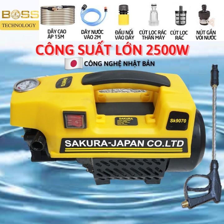 [] Máy rửa xe mini - Sakura 2500W - Tặng bình bọt