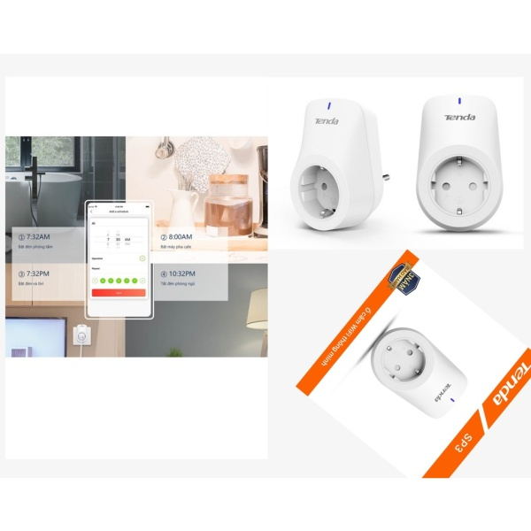 Ổ cắm Wifi Thông minh Tenda Beli SP3, thiết kế hiện đại , sang trọng