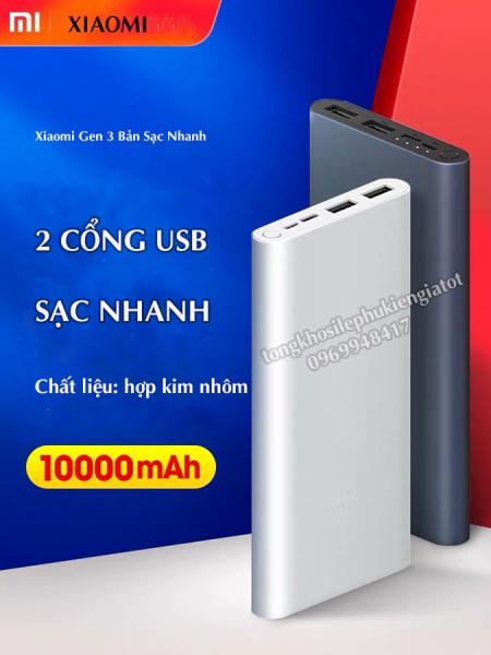 Giá Tốt  Sạc Dự Phòng Xiaomi Gen 3 10000Mah