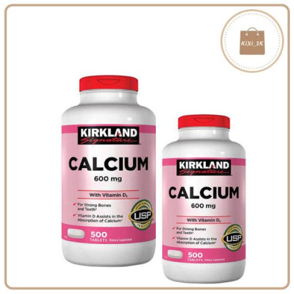 [CHÍNH HÃNHG] Viên uống Canxi Kirkland Calcium 600mg + D3 hộp 500 viên của Mỹ