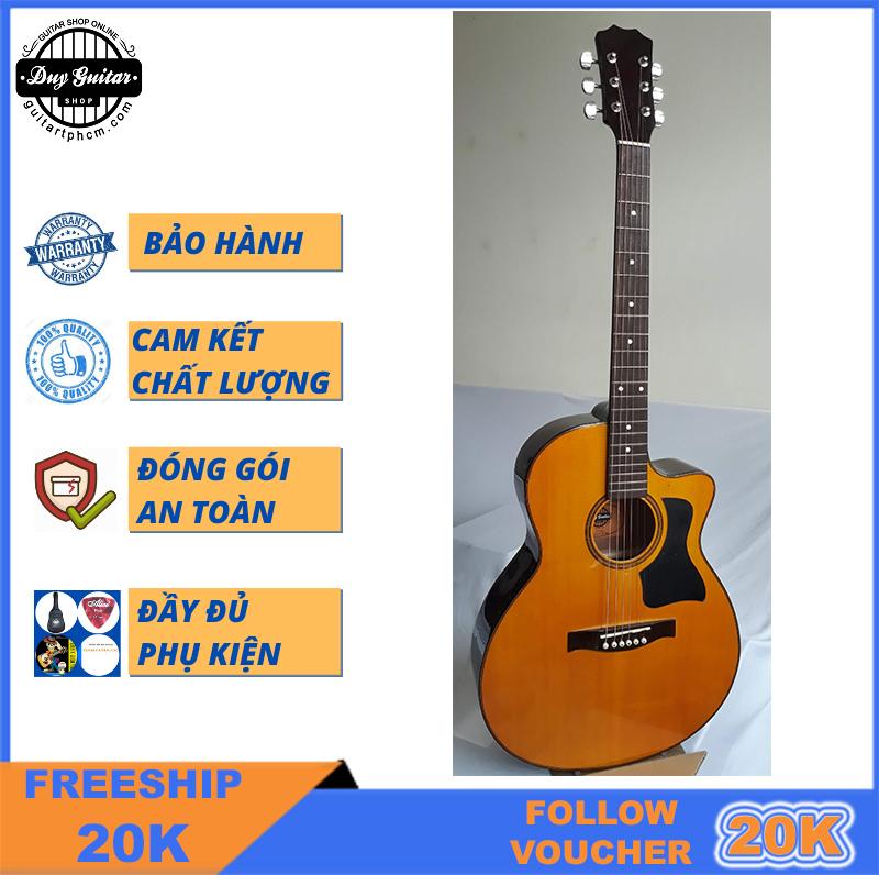 Đàn Guitar Acoustic DT70 Duy Guitar Có Nhiều Màu Tùy Chọn Dòng Guitar đệm Hát Cho âm Thanh Vang Sáng Cần đàn Có Ty Action Bấm Nhẹ Dành Cho Bạn Mới Tập Có Giá Tốt