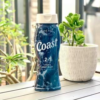 Sữa tắm gội 2in1 cho nam COAST Classic Scent Hair & Body 532ml thumbnail