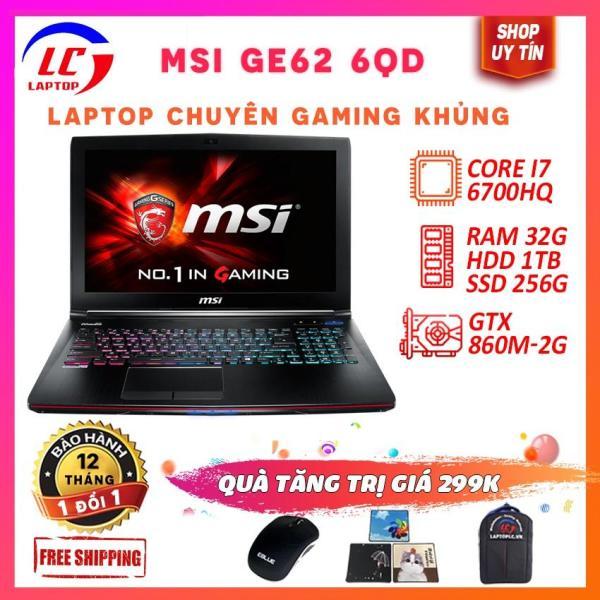 Bảng giá Laptop Chuyên Game, MSI GE62 6QD ( i7-6700HQ/VGA rời Nvidia GTX 960M- 2G, màn 15.6″ FullHD IPS), laptop msi GE62, GE62, laptoplc Phong Vũ