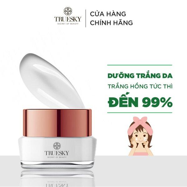Kem dưỡng trắng da mặt Truesky cấp tốc dạng lotion chiết xuất ngọc trai chính hãng 15g - Whitening Face Cream cao cấp