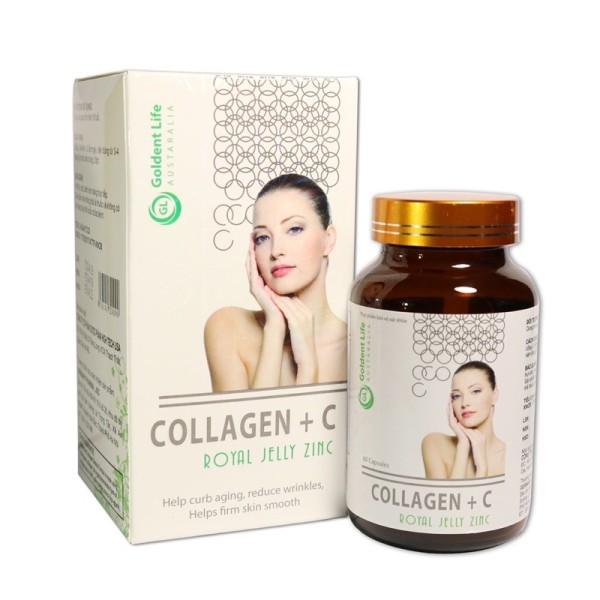 Collagen +c đẹp da sáng da hạn chế lão hoá da hiệu quả lọ 60 viên, sản phẩm chất lượng, đảm bảo an toàn sức khỏe người sử dụng, cam kết hàng giống hình