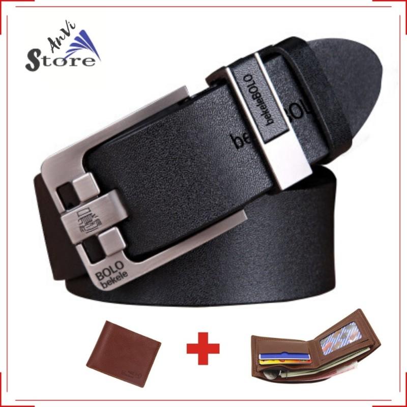 Thắt lưng nam da thật cao cấp tặng kèm ví da hàng loại 1, chất lượng đảm bảo an toàn đến sức khỏe người sử dụng, mẫu mã đa dạng