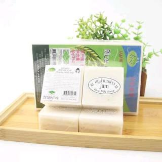 Miếng Xà Phòng Cám Gạo Tự Nhiên Cho Da Trắng Mịn Thái Lan JAM RICE MILK SOAP thumbnail