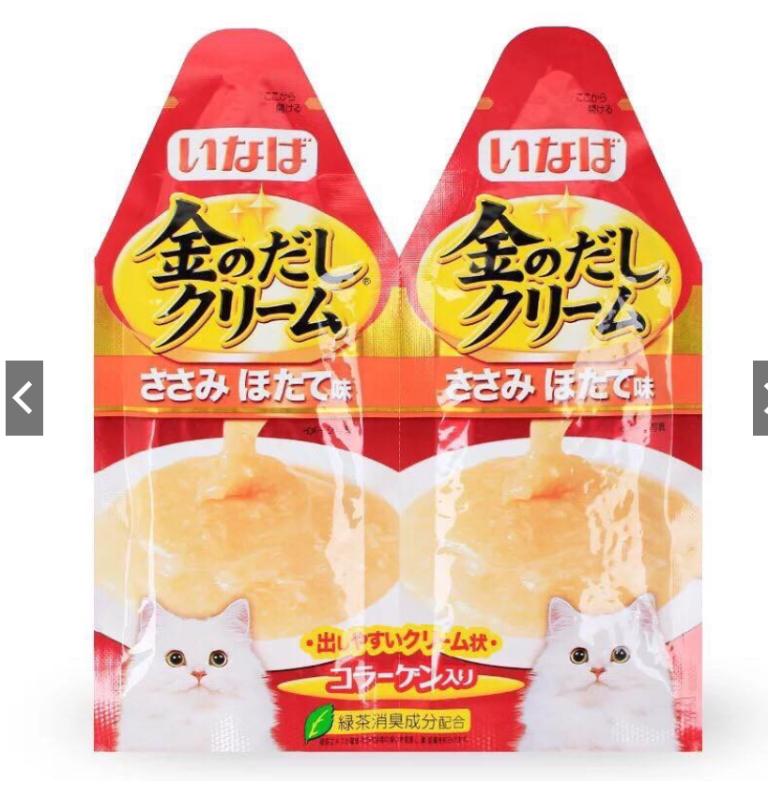 Súp dinh dưỡng/ súp thưởng cho mèo Inaba Kin no Dashi Cream 30g
