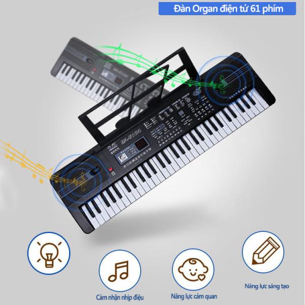 Đàn organ điện tử 61 phím trẻ em đa chức năng đồ chơi organ điện tử cho trẻ em mới bắt đầu học đàn
