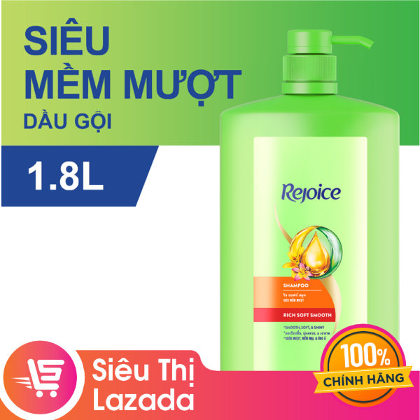[Siêu thị Lazada]Dầu gội Rejoice 1.8L hương thơm dịu nhẹ cho mái tóc ngày càng mềm mượt và chắc khỏe cao cấp