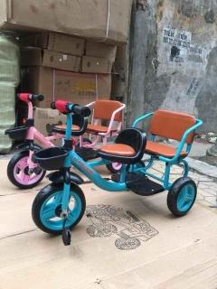 Xe đạp 3 bánh 2 ghế xích lô cho bé thumbnail