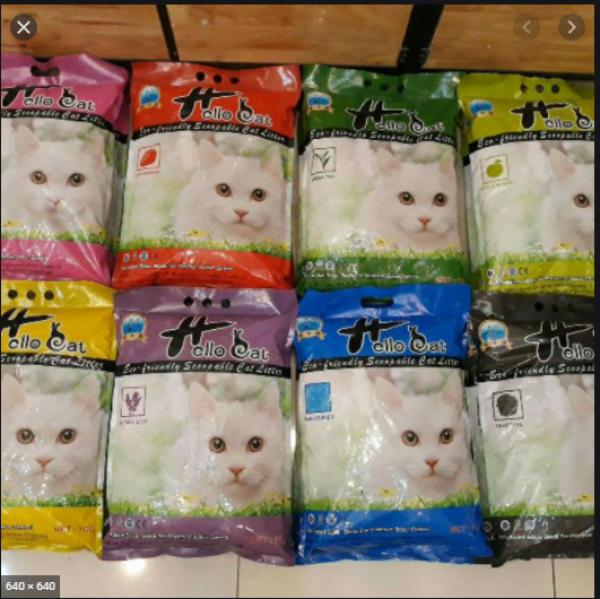 [HCM]Cát vệ sinh cho mèo HELLO CAT 10lit - Cát Hút ẩm tốt mùi  dễ chịu Cát vệ sinh cho mèo HELLO CAT