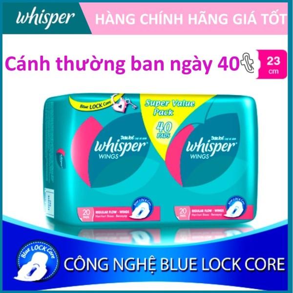 Băng vệ sinh Whisper có cánh Ngày Vừa Phải gói 40 miếng nhập khẩu