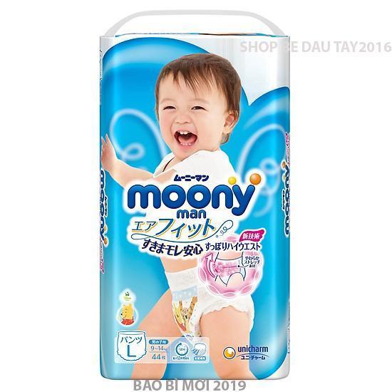 Tã Quần Moony Nhật Cho Bé Trai Size L 44 Miếng (9-14kg) Giá Quá Tốt Phải Mua Ngay