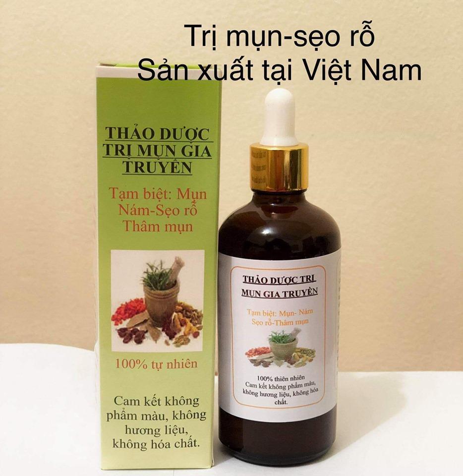 Thảo dược sạch mụn - thâm rỗ nám tàn nhan (50ml)