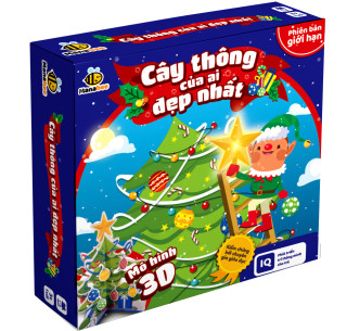 Đồ chơi trí tuệ Manabee - Cây thông của ai đẹp hơn - Giúp bé nhận biết màu sắc, hình khối - Lứa tuổi 1- 10. thumbnail