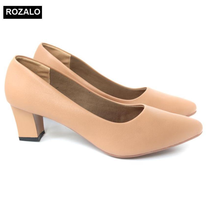 Giày nữ cao 5cm gót vuông mũi nhọn Rozalo RW5625 giá rẻ