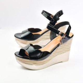 Dép sandal nữ đế xuồng HT.NEO đế xuồng 9 phân nâng trước cao bằng nhau cực đẹp, mẫu mới nhất 2021 ( SDN74 ) thumbnail