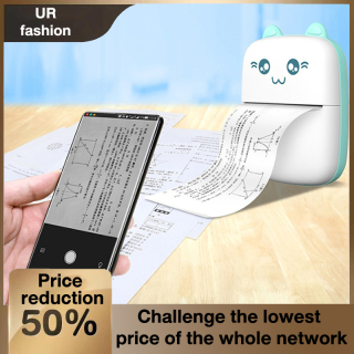 Ready Stock Bluetooth Connection USB Thermal Label Printer Handheld Mini Printer Student Mobile Phone Pocket Wrong Question Printer Printing paper thumbnail