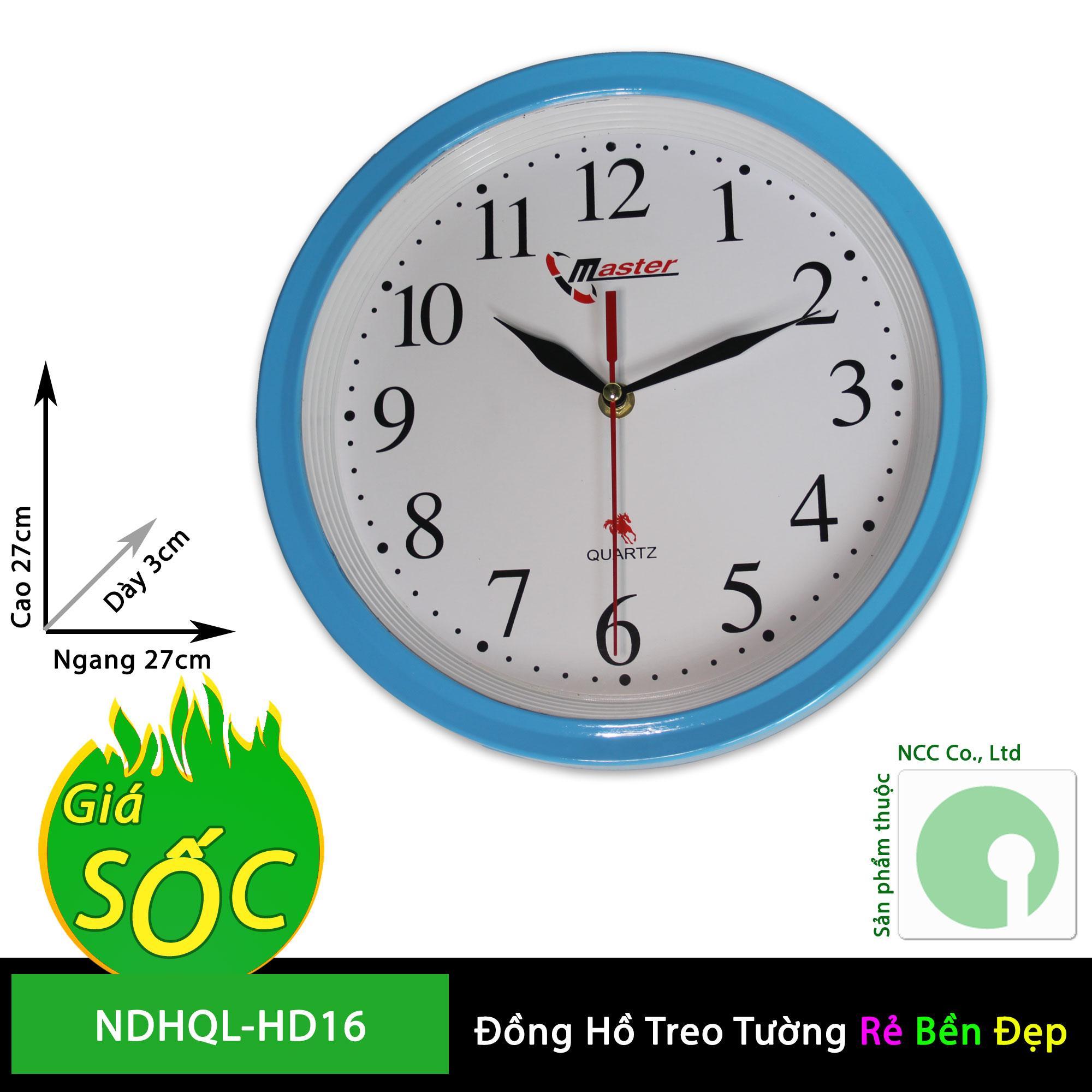 Nơi bán Đồng hồ treo tường - mặt tròn nền trắng - NDHQL-HD16 (Khung nền trắng)