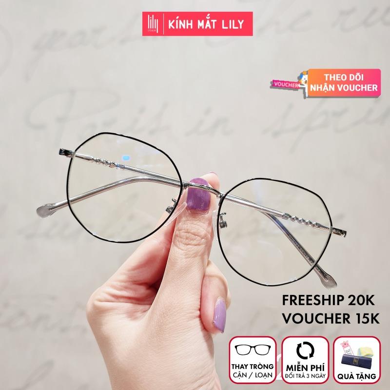 Giá bán Gọng kính kim loại nữ mắt vuông Lilyeyewear 29183 nhẹ nhàng thanh mảnh giúp người đeo thoải mái phù hợp với nhiều khuôn mặt  gọng kính có nhiều màu một size kèm quà