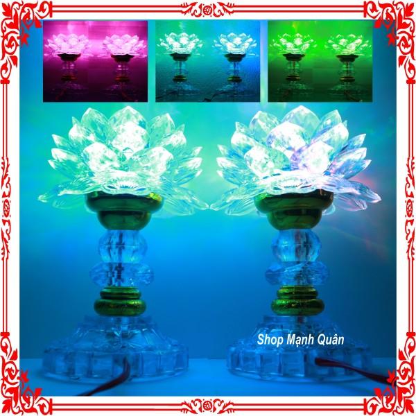 Bảng giá [ HÀNG LOẠI MỚI ] Bộ 2 đèn thờ cúng hoa sen đổi 7 màu chuyên dùng cho bàn thờ tổ tiên, ông bà, thờ phật, ông địa, thần tài