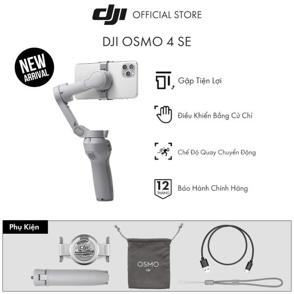 Tay cầm gimbal DJI Osmo Mobile 4 SE 2021 chống rung điện thoại Hàng chính hãng