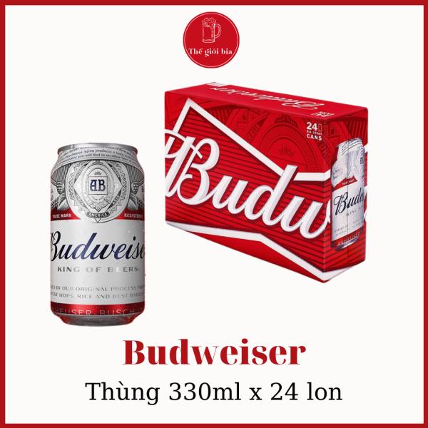[Chính hãng] Bia Budweiser 330ml x 24 lon