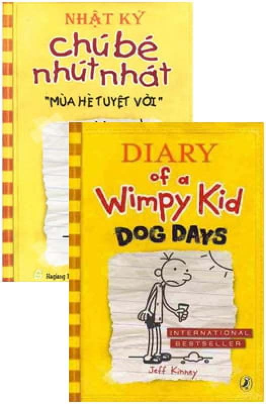Fahasa - Combo Sách Hay Song Ngữ Diary Of A Wimpy Kid 4 - Mùa Hè Tuyệt Vời