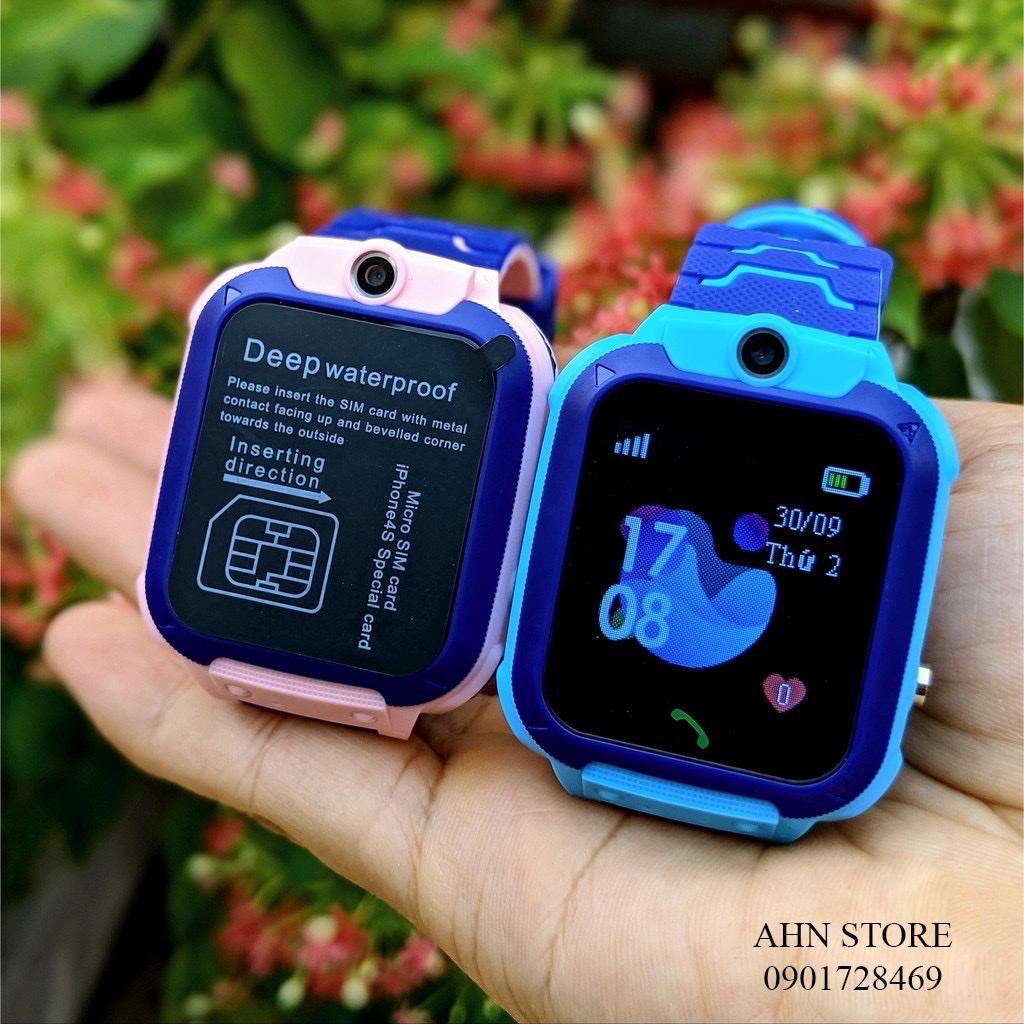 Đồng hồ thông minh định vị GPS Q12 chống nước cảm ứng lắp sim nghe gọi điện thoại cho trẻ em có ngôn ngữ tiếng việt - A28 loại 1