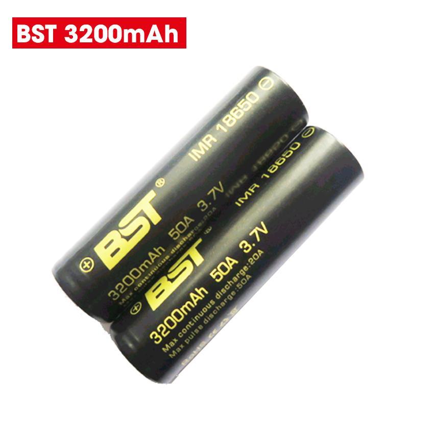 Bộ 2 Pin sạc Lithium BST 18650 3.7V 3400mah dòng xả 40A