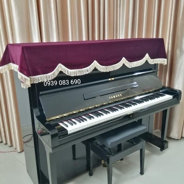 Khăn phủ đàn Piano cơ đỏ đô nhung dày mềm mịn,kích thước 1m9 x 80cm