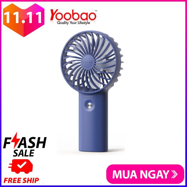 Quạt sạc tích điện mini cầm tay có thể đặt bàn Yoobao F3 6000mAh có thể chạy 32 giờ liên tục - Hãng phân phối chính thức