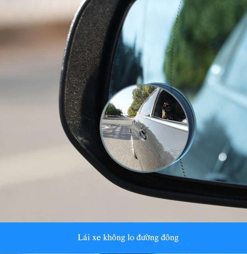 [XẢ KHO GIÁ GỐC] Bộ 2 gương cầu kính lồi 5 cm chiếu hậu tăng góc quan sát, xóa điểm mù phù hợp cho nhiều loại xe hơi, ô tô, xe tải tăng độ an toàn, hít chân không hoặc dán trực tiếp- THE S SHOP